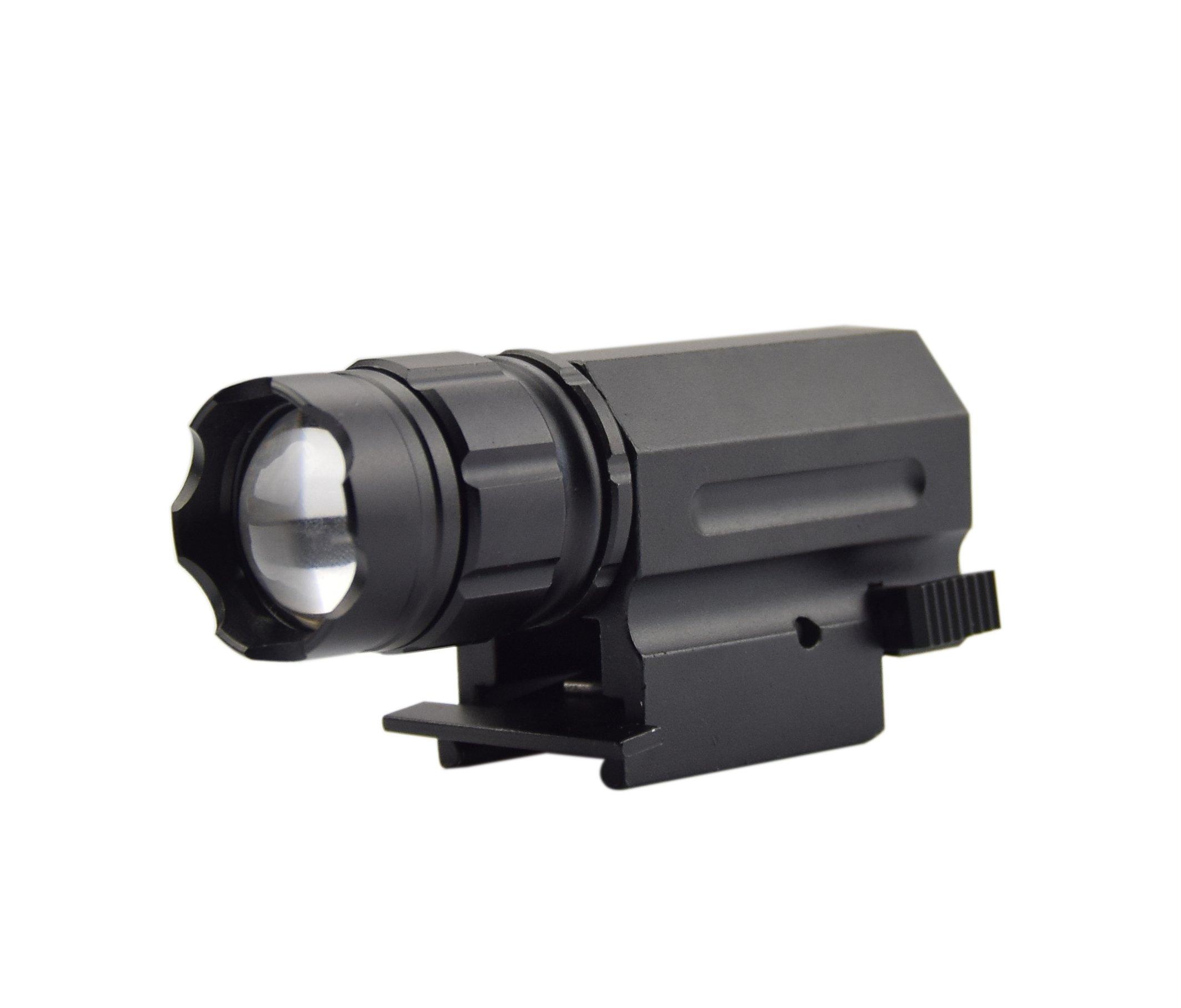 Feyachi 220 Lumen Tatical Weaver Mount Pistol/Rifle LED Flashlight Quick Release For 20mm Picatinny Rail