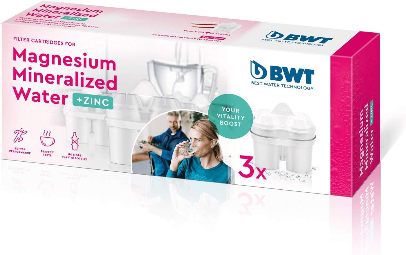 Set 3 filtri BWT magnesio e zinco