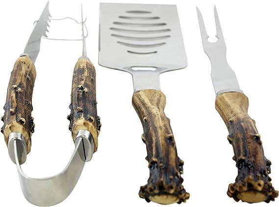 Antler Handle Grill Set
