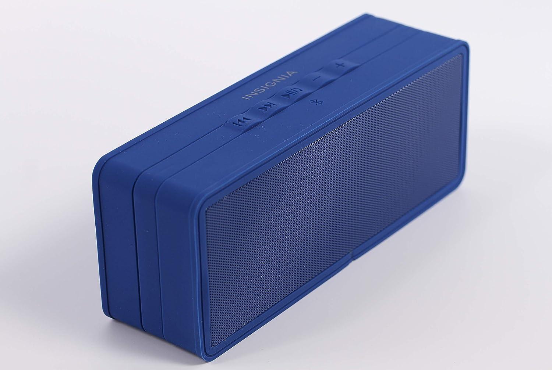Insignia Portable Bluetooth Speaker NS-SPBTBRICK-SB Dark Blue – New