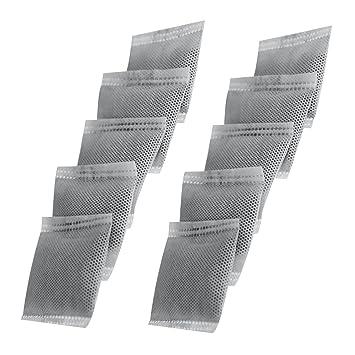 LifeBasis 10 x filtro de carbón activado Bolsas de filtro de carbón para destiladores de agua