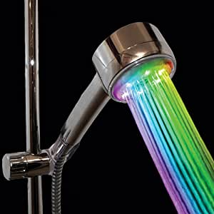 CloseoutZone Color Changing Showerhead Nozzle - Rainbow LED Lights Cycle Every 2 Seconds