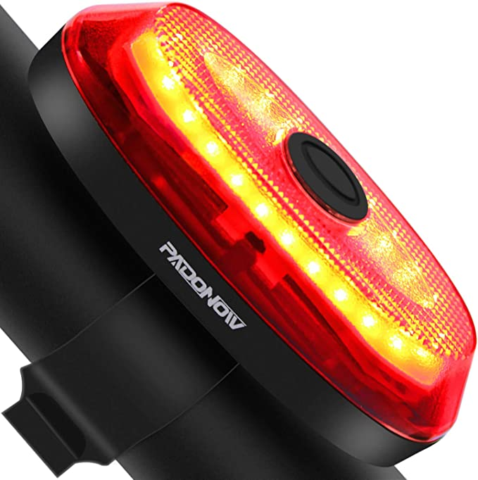 Smart Brake Sensing Water Resistant Warning Flashing MTB Bike Rear Light LED USB