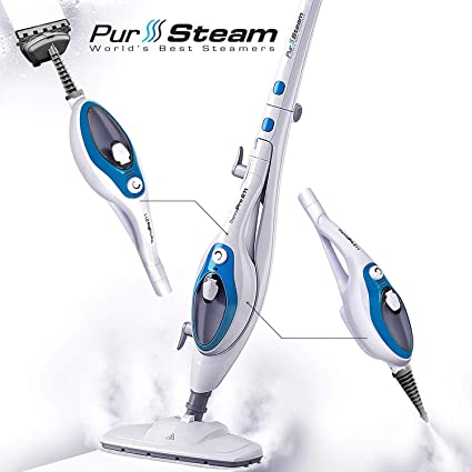 Steam Mop Cleaner ThermaPro 10-in-1 with Convenient Detachable Handheld  Unit, Laminate/Hardwood/Tiles/Carpet Kitchen - Garment - Clothes - Pet