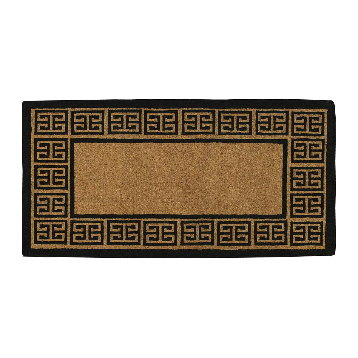 Home & More 18009PLAIN3672 The Grecian Extra-Thick Doormat, 36'' x 72'' x 1.50'', Natural/Black