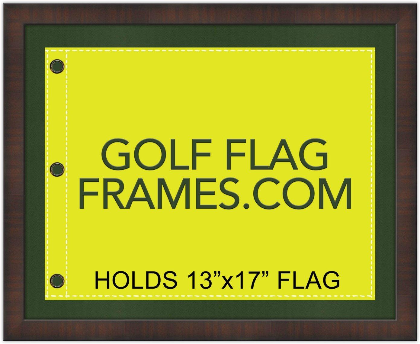16 x 20 braun Golf Flagge Rahmen, Zierleiste brn-001, grün matte ...