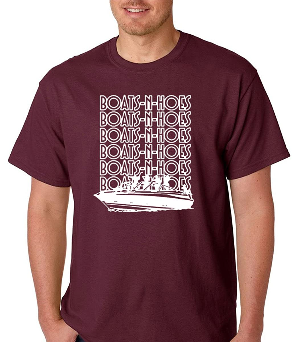 f4fe5282 Amazon.com: Raw T-Shirts Boats and Hoes Prestige Worldwide - Funny Boats  Premium Men's T-Shirt: Clothing