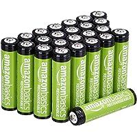 Amazon Basics Pacote com 24 pilhas recarregáveis AAA com capacidade de desempenho de 800 mAh, pré-carregadas, podem ser…