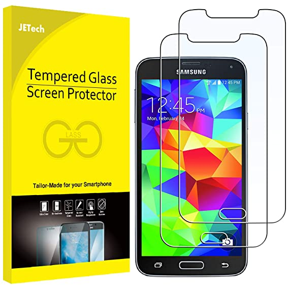 36294b27502 Image Unavailable. Image not available for. Color: JETech Screen Protector  for Samsung Galaxy S5, Tempered Glass Film, 2-Pack