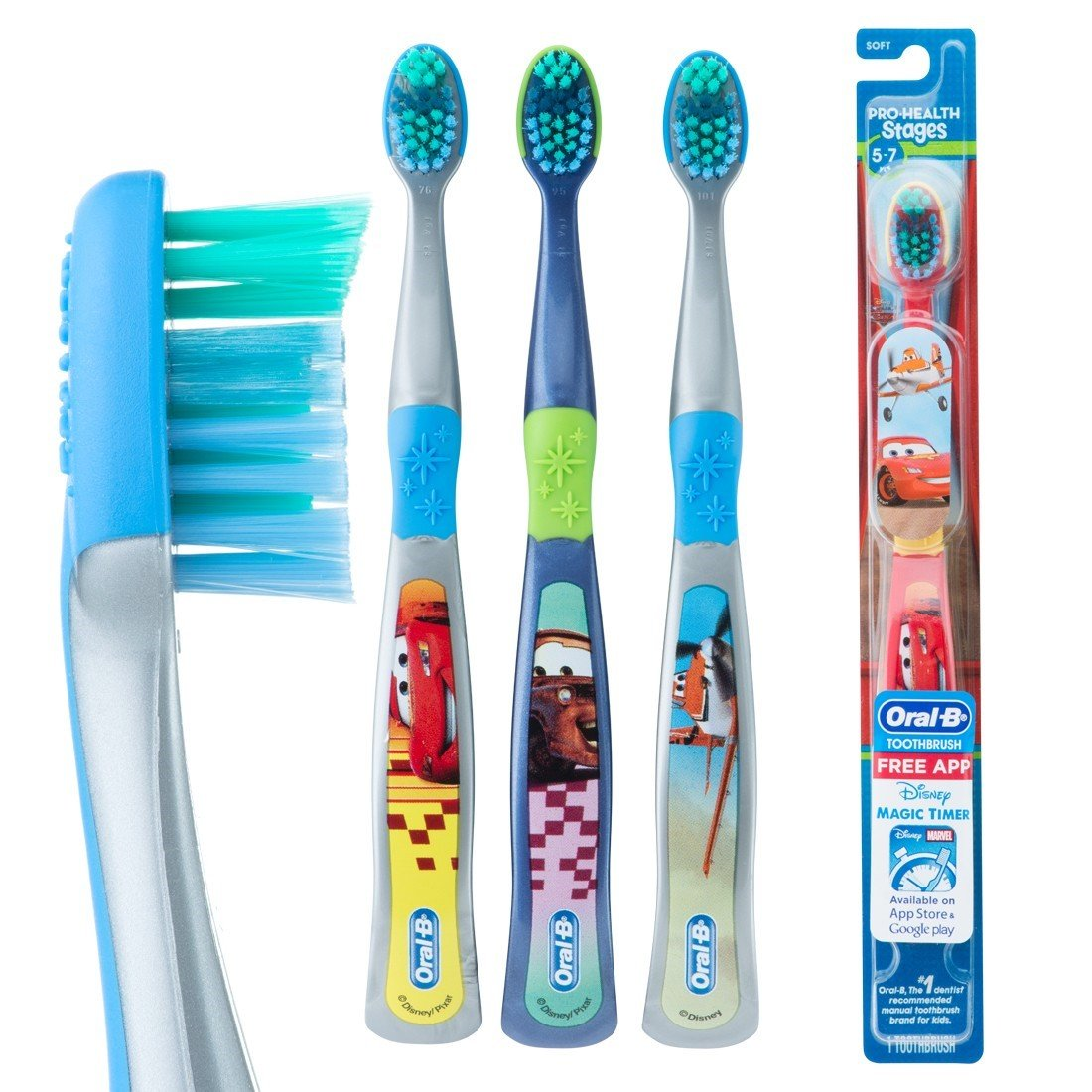 Oral-B Pro-Health Stages Disney Cars - Cepillo de dientes manual para niños, paquete de 6, (los colores pueden variar): Amazon.es: Industria, ...