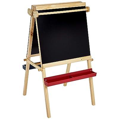 Basics Kids Standing Art Easel, Dry-Erase Board, Chalkboard, 2 Paper Rollers: Industrial & Scientific