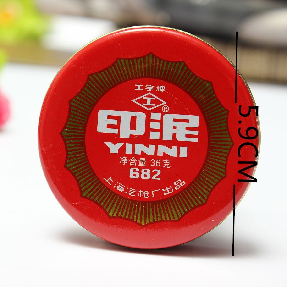 SGPL Calligrafia pittura inchiostro rosso pasta rotonda cinese Yinni Pad nuovo 36 g