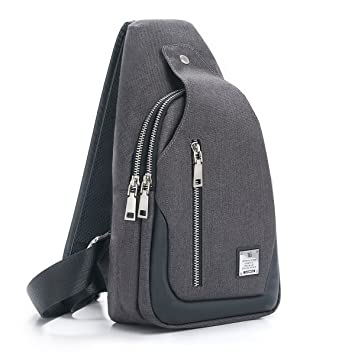 643d8f02b86 Amazon.com | Sling Bag Chest Shoulder Backpack Crossbody Bags for Men Women  Travel Outdoors (Large black) | Casual Daypacks