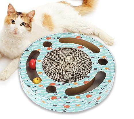 Amazon.com: Mora Pets Rascador de gato interactivo juguetes ...