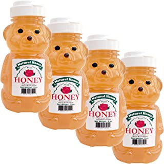 product image for 8oz Mild Raw and Pure Natural Clover Wyoming Honey Bear - 4 Pack