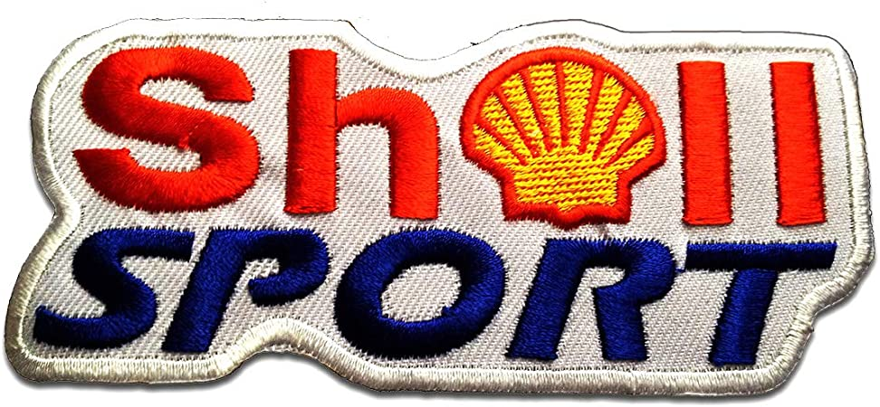 SHELL LOGO iron-on patch ricamate