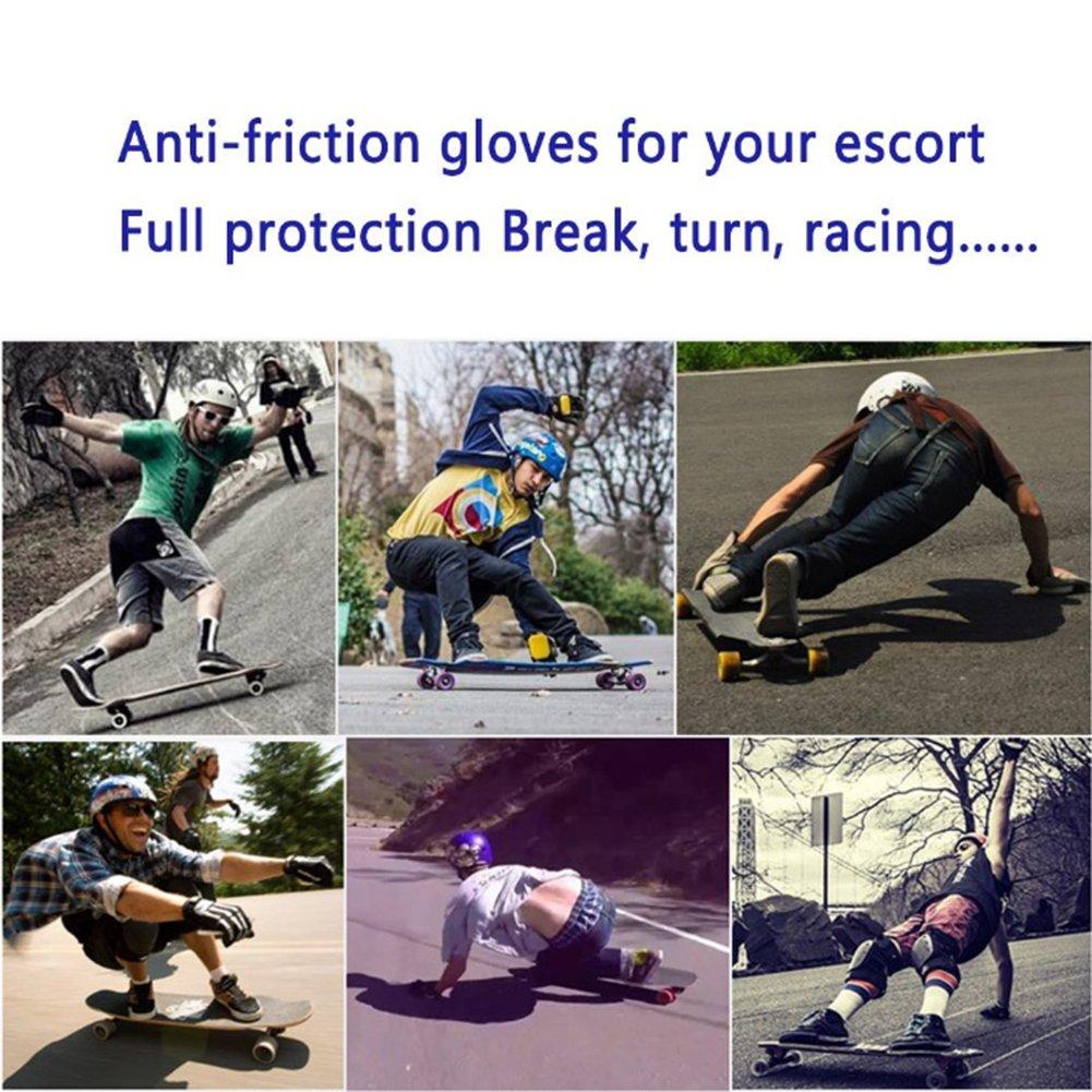 Adda Adulto Guanti Protettivi per Skateboard con Rimovibile Puck Guanti Longboard