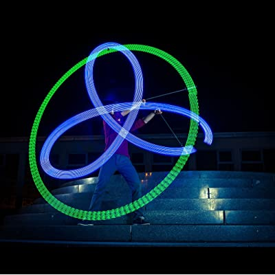 Zeekio Lighted LED Poi - Spinning Flow Toys - Sold in Pairs: Toys & Games