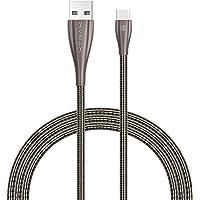 Cabo USB C 1,0m ponta de alumínio, Xtrax, Cinza