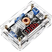 DC-DC Buck, DROK Power Supply Module LM2596 DC Buck Converter 5V-36V to 1.25-32V Step Down Voltage Regulator Stabilizer…