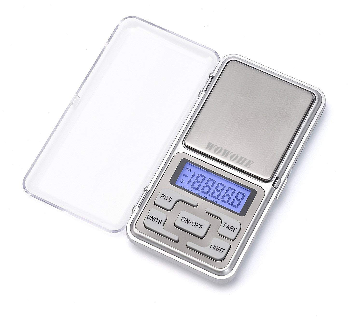 WOWOHE Digital Pocket Scales Gram Food Scale Kitchen Portable Scale Small Mini Cooking Scale Digital Weight Grams Accuracy 0.01g Capacity 500g