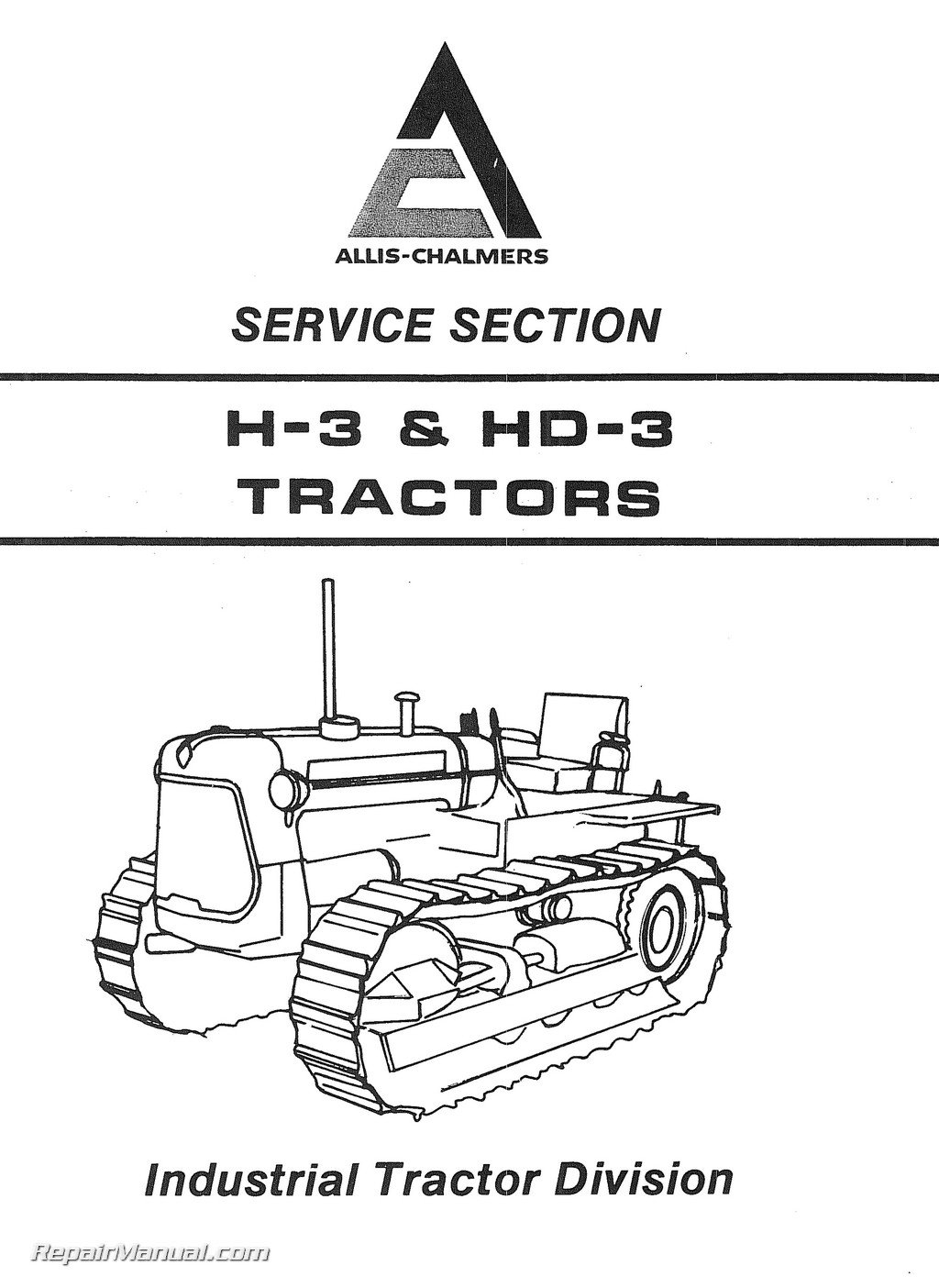 AC-S-H3-HD3 Allis Chalmers H3 HD3 Tractor Service Manual ...
