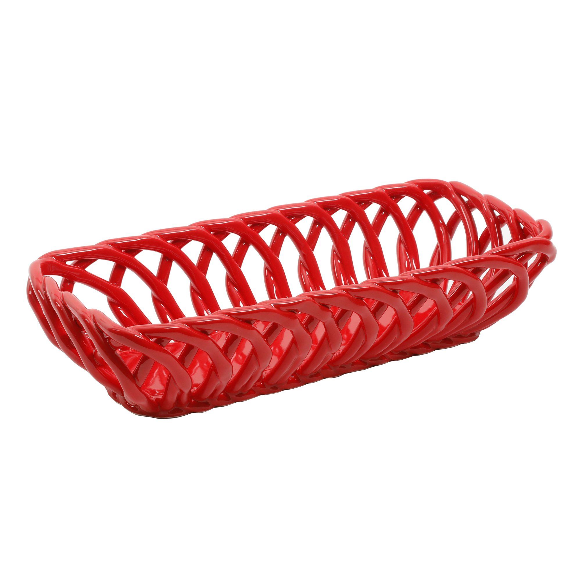 Timeless Beauty 13.7-Inch RED Bread Basket Perfect For Use From Oven To Table, Dishwasher And Microwave Safe, Made Of Stoneware By The Pioneer Woman