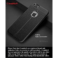 Apple iPhone 6 / 6s Covers and Cases - Apple iPhone 6 / 6s Back Case Cover - Auto Focus Shock Proof Leather Pattern Armor Soft Back Case Cover for Apple iPhone 6/6s - (Black)
