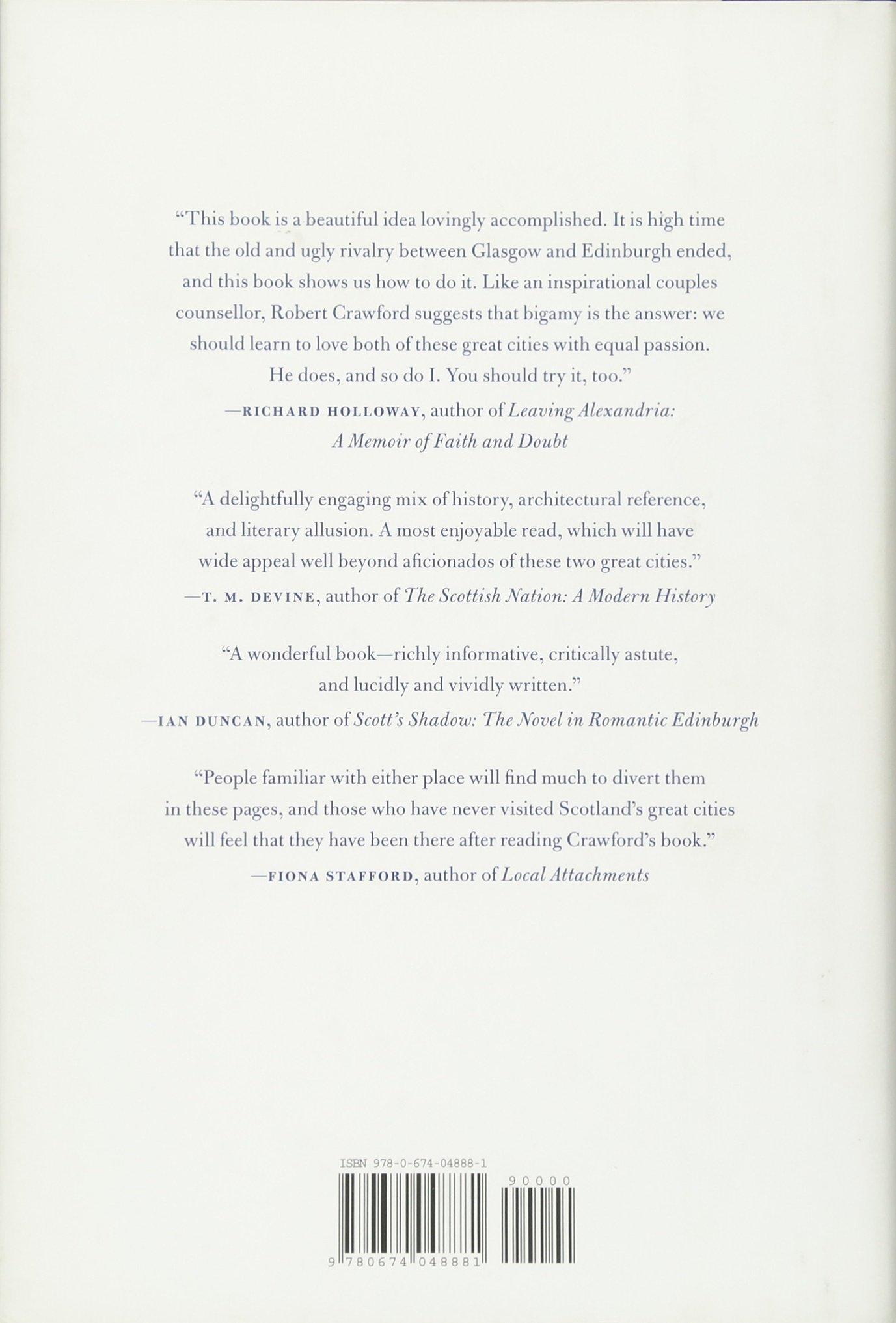 On Glasgow And Edinburgh: Robert Crawford: 9780674048881: Amazon: Books