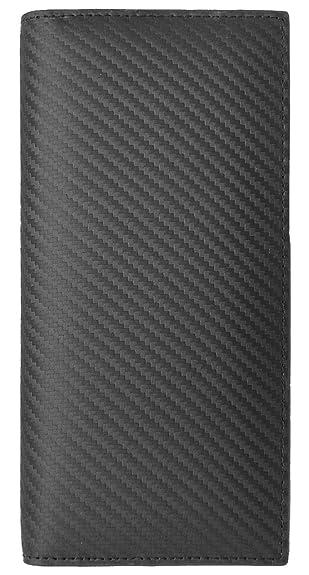 48f481ec09d6 イタリアンレザー:ブラック F イタリア産 スペイン産 カーボン レザー 長財布 メンズ 財布 本