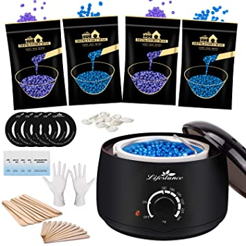 Amazon Com Waxing Kit Lifestance Wax Warmer Hair Removal With 4
