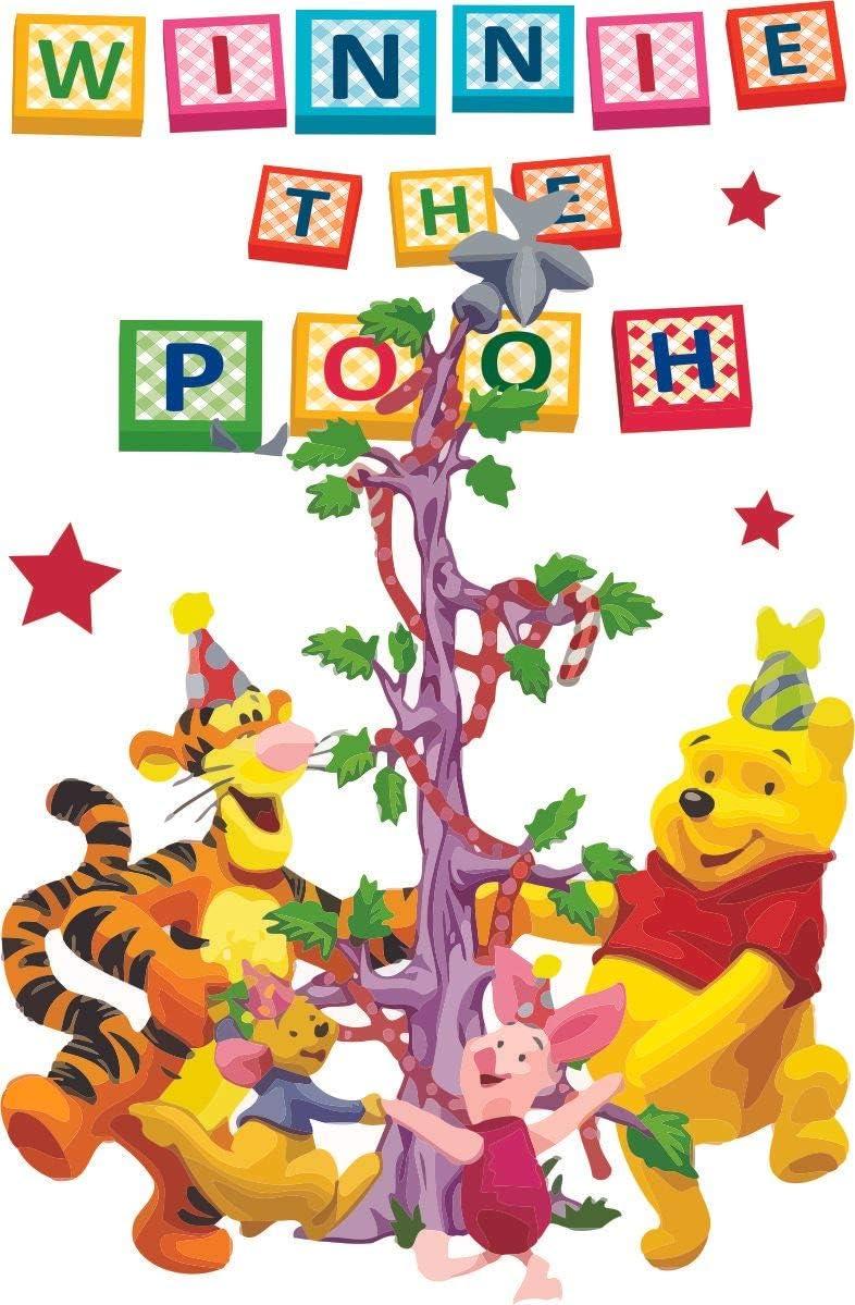 Winnie The Pooh Friends Tree Cartoon Decors Wall Sticker Art Design Decal for Girls Boys Kids Room Bedroom Nursery Kindergarten House Fun Home Decor Stickers Wall Art Vinyl Decoration (20x18 inch)
