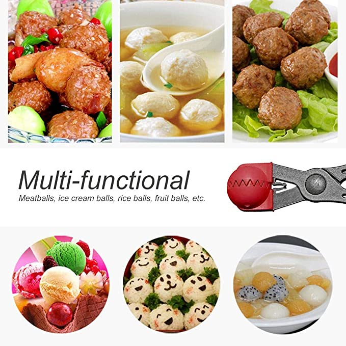 VWH Stainless Steel Meatball Maker Clip DIY Non Stick Meat Rice Ball Maker Mold