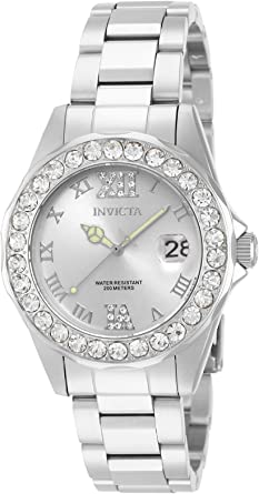 Invicta Women's Pro Diver/Sea Base38mm Stainless Steel Quartz Watch, Silver, Gold, Two Tone (Model: 15251, 20387, 20389, 20391)