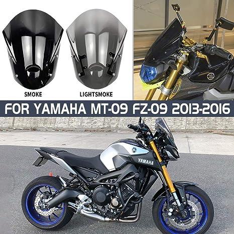 Windshield Windscreen Pare-brise Smoke For YAMAHA MT-09 FZ-09 2014 2015 2016