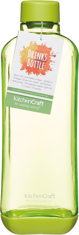 Kitchencraft Healthy Botella Apilable, Verde, 20 x 6 cm