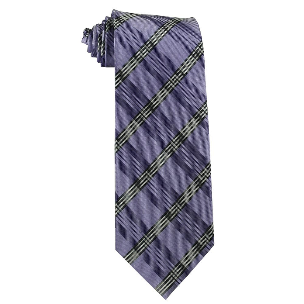 Children's Tie (ages 8-14 years old) Quartz Purple Plaid Youth Tie Youth 357