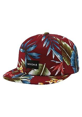 9cc31dd3fe001 Image Unavailable. Image not available for. Color  NIXON Tropics Snapback  Hat Sangria