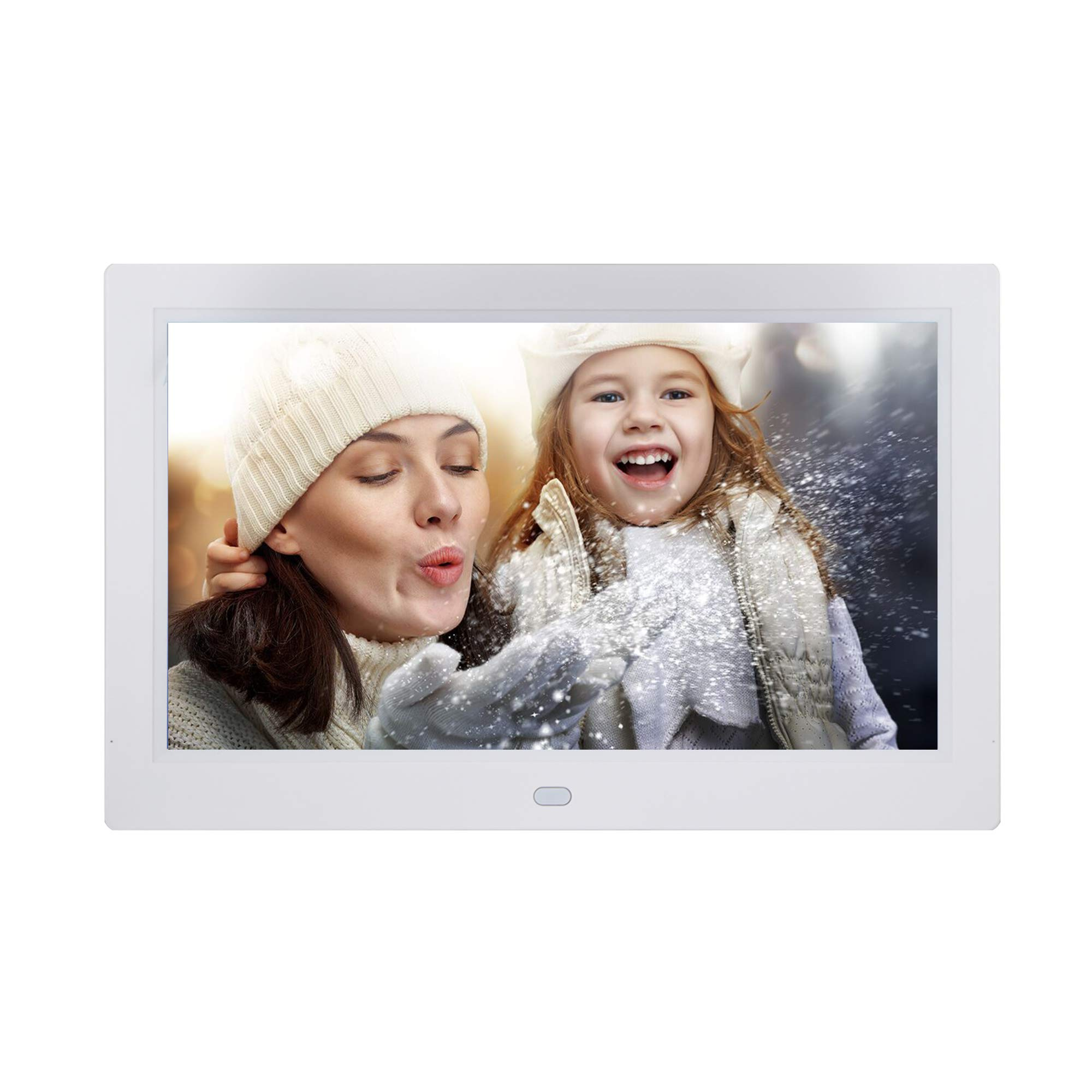 10 inch Digital Photo Frame Digital Picture Frame with Remote Control, Photo Video MP3 Player / 4 Windows/Calendar/Alarm Clock / 5 Languages Electronic Photo Frame for Desk Wall by Jaihonda