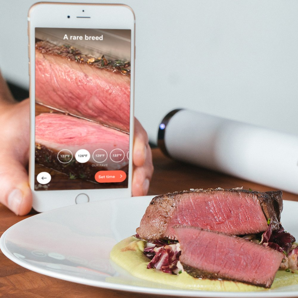 ChefSteps Joule Sous Vide, 1100 Watts, White Body, Stainless Steel Cap & Base by ChefSteps (Image #3)