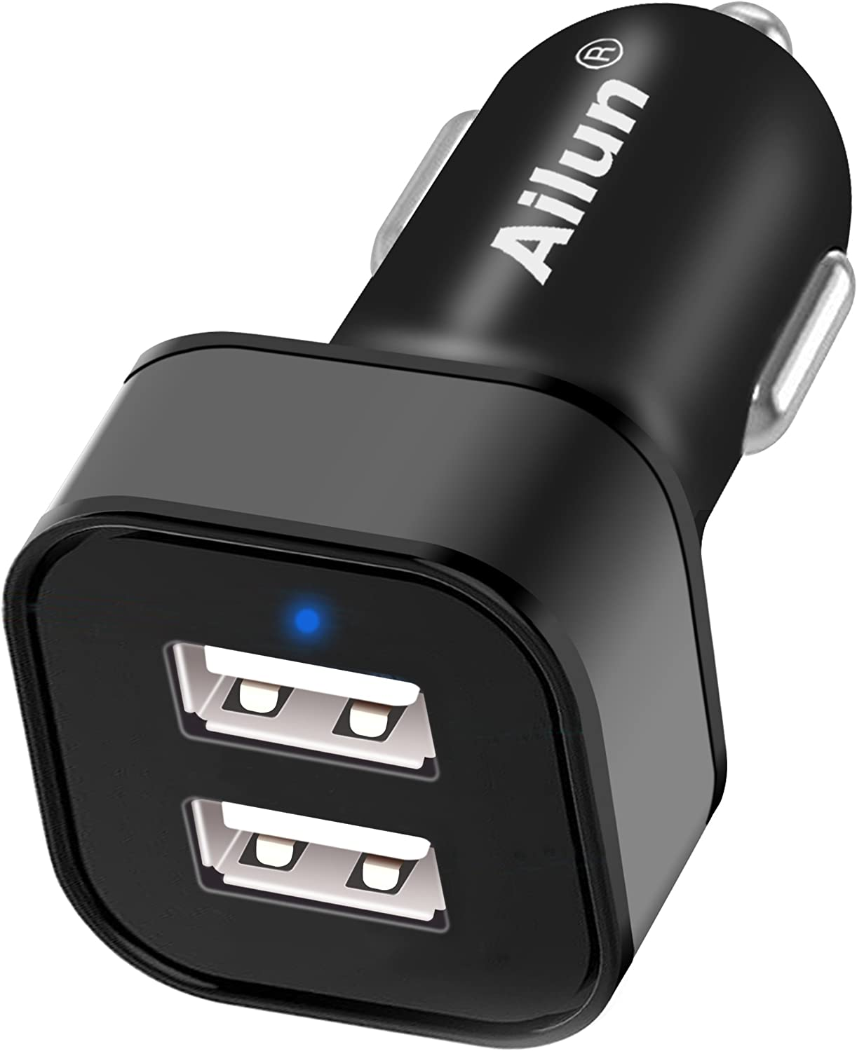 Ailun Car Charger Adapter Dual Smart USB Ports 4.8A 24W for Mobile Device for iPhone 11/11 Pro/11 Pro Max/X Xs XR Xs Max 8 7 Plus 6 6s Plus Galaxy S10 Plus S7 S6 Note 10