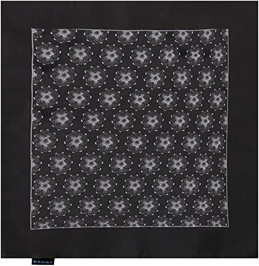 Epoint Mens Fashion Multicolored Mens Microfiber Patterned Handkerchief for Dress