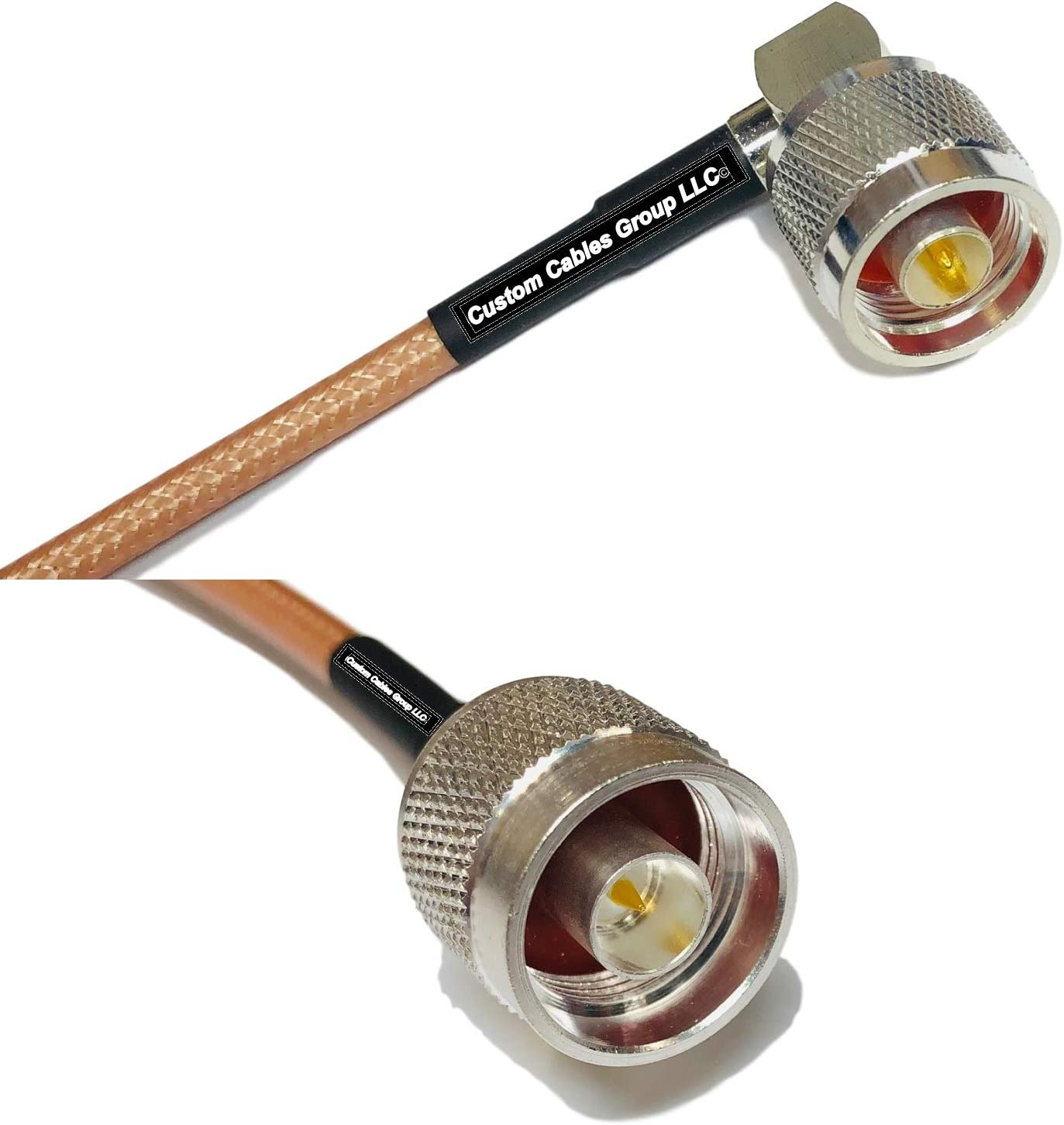 25 feet RG142 N Male Angle to N Male RF Coaxial Cable