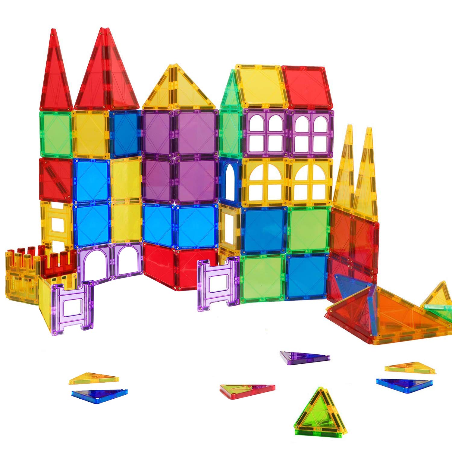 Gifts2U Magnetic Blocks, 72 Pcs Magnet Building Tiles Educational Toys 3D Magnet Building Blocks Set Magnetic Tile Suitable for Kids Classroom Toddler Girl by Gifts2U