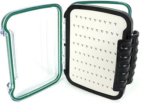 aventik inserciones de silicona doble cara caja de pesca con mosca impermeable caja transparente tapa resistente al agua para pesca con mosca cajas, Verde (Green Ring): Amazon.es: Deportes y aire libre