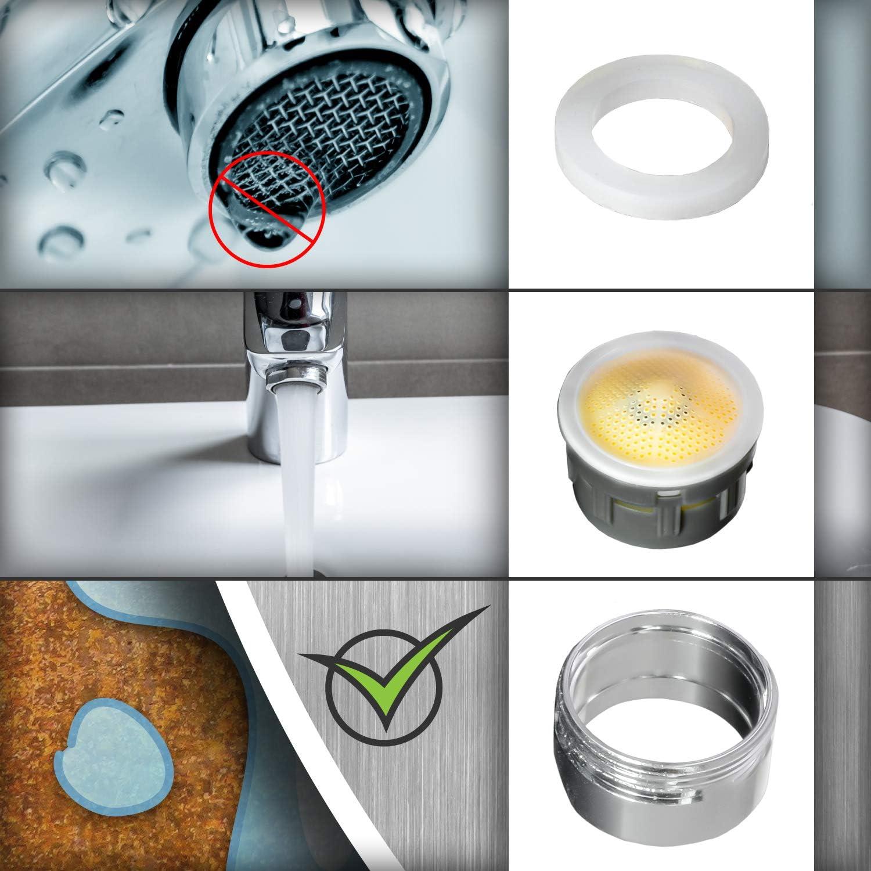 Nirox 10x Aireador de grifo Difusor de agua grifo para ba/ño y cocina Atomizador grifo con rosca exterior M24x1-6L//M Limitador de chorro de agua Perlator boquilla de mezcla