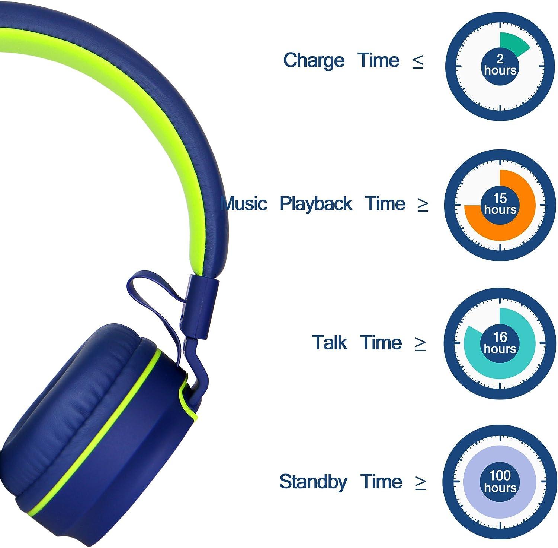 Dispositivos iPhone y Android Negro P/úrpura RockPapa 952 Auriculares Est/éreo Plegables con Potentes Bajos y microfono para iPod iPad MP3