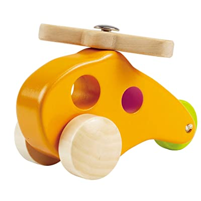 Hape Little Copter Wooden Toy Toddler Play Vehicle: Toys & Games
