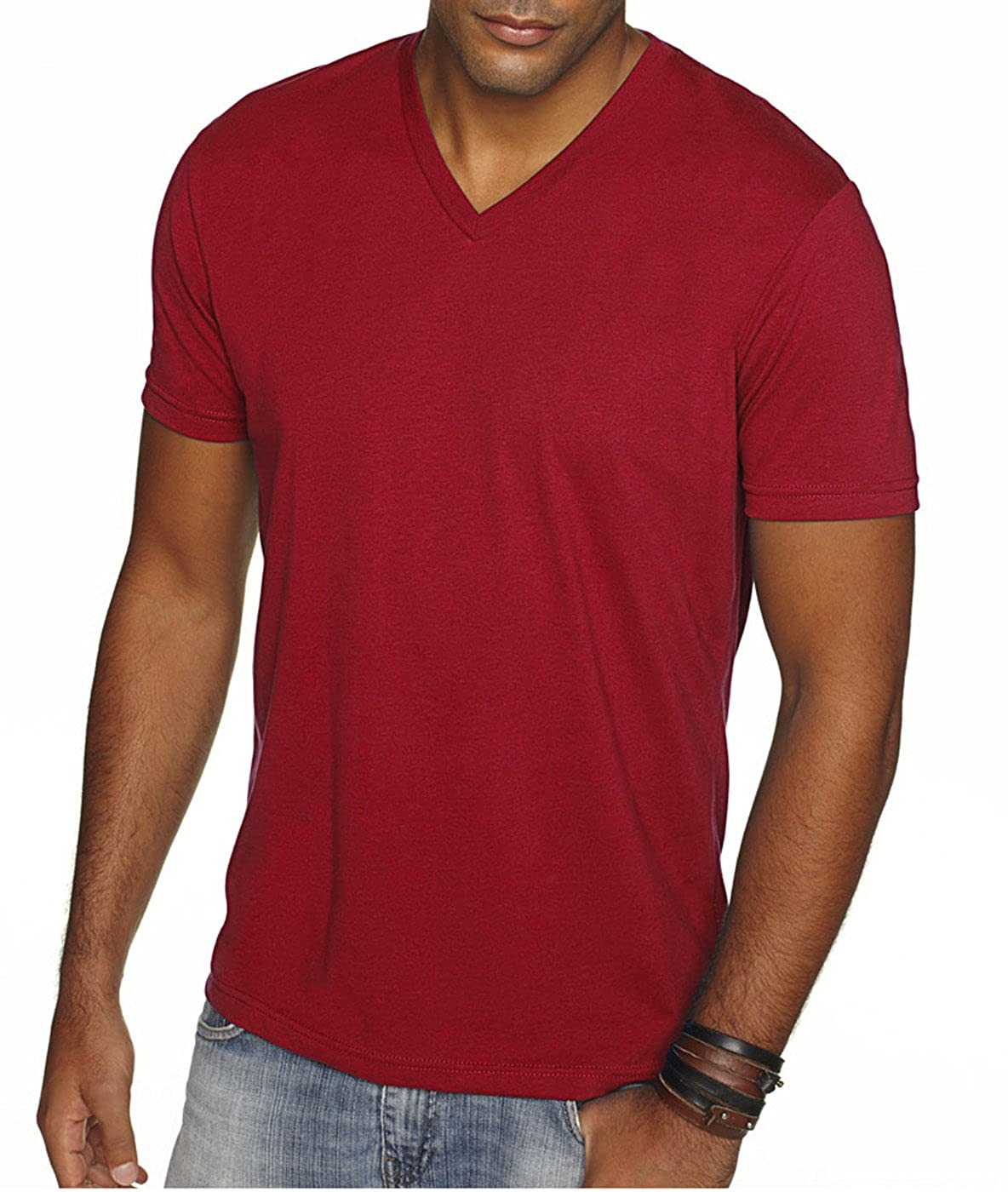 294d8bbedfa Next Level Apparel 6440 Mens Premium Fitted Sueded V-Neck Tee -2 Pack