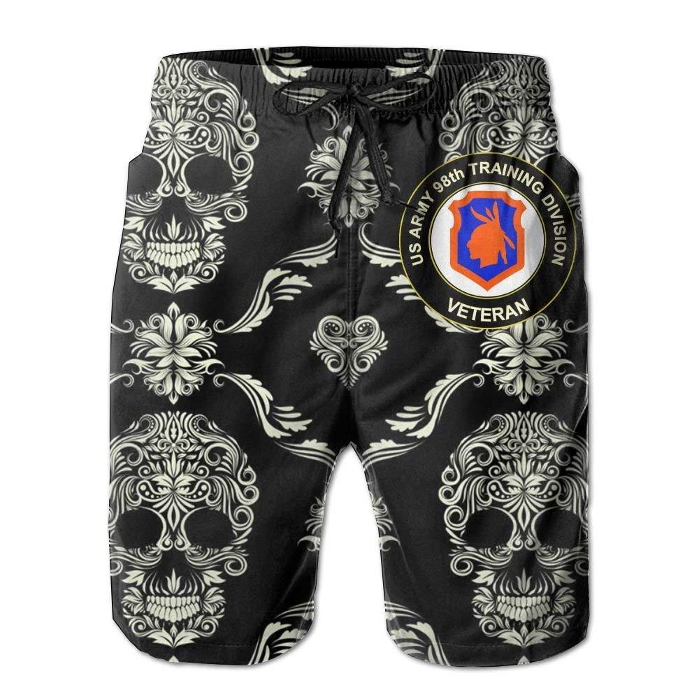 KLING Pantaloncini da Spiaggia Trunks da Uomo della Linea US Army Veteran 98 Division